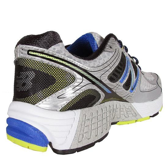 New Balance Mens Stability Running Training M860sb4 Silver with Blue & Yellow Athletic Image 1