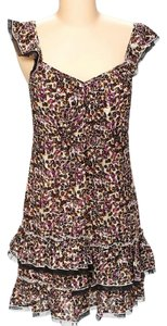 DKNY short dress Multi Layered Floral Print Day Cotton on Tradesy
