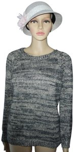 Mango Wool Blend Metallic Crew Neck Long Sleeves Career Sweater