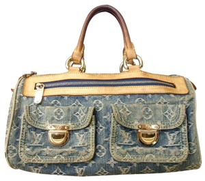 Louis Vuitton Satchel in tan/blue