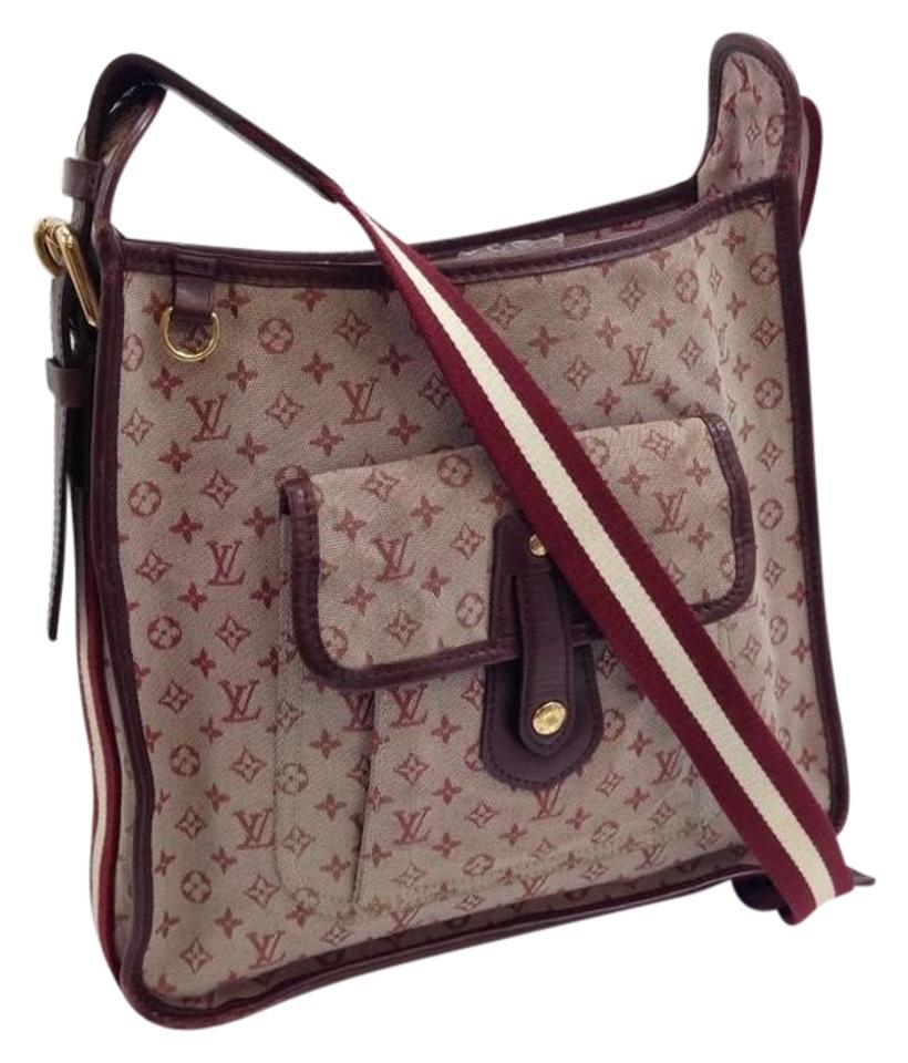 ae07f621 Louis Vuitton Mary Kate Mini Lin Monogram Red Pink Brown Canvas Leather  Cross Body Bag 54% off retail