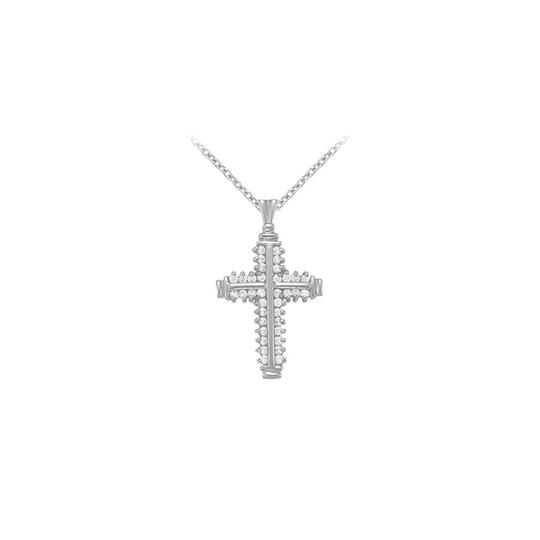 Preload https://img-static.tradesy.com/item/22377870/white-yellow-april-birthstone-cubic-zirconia-cross-pendant-in-925-sterling-silver-necklace-0-0-540-540.jpg
