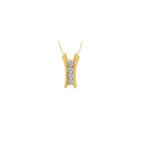 Preload https://img-static.tradesy.com/item/22377925/white-yellow-cubic-zirconia-channel-set-line-pendant-in-gold-vermeil-over-sterling-necklace-0-0-540-540.jpg