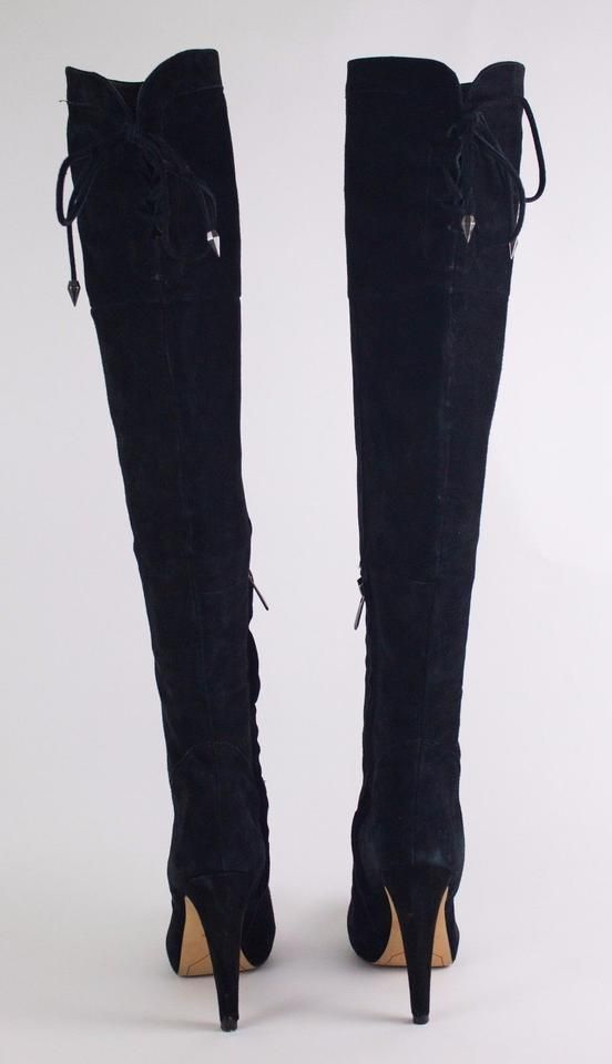 6dff2fa3229550 Sam Edelman Black Kayla Suede Over The Knee Boots Booties Size US 9.5  Regular (M