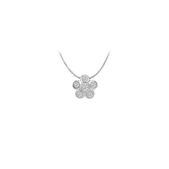 Preload https://img-static.tradesy.com/item/22378148/white-silver-cubic-zirconia-floral-shaped-pendant-in-sterling-033-ct-necklace-0-0-540-540.jpg