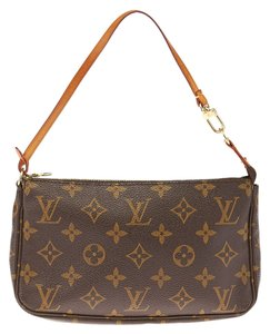 Louis Vuitton Monogram Canvas Leather Pochette Baguette