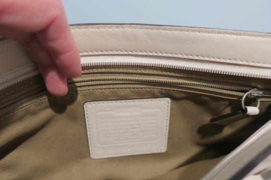 Coach Zip-up Evening Ivory Clutch Image 2