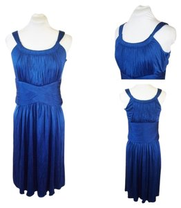 Cynthia Steffe Blueberry Nwt Silk Evening Gown Sleeveless Dress