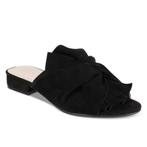 Kenneth Cole Reaction Black Knotted Mules Size 7 Black Mules
