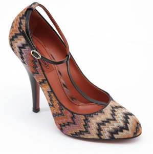 Missoni Orange, Brown Pumps
