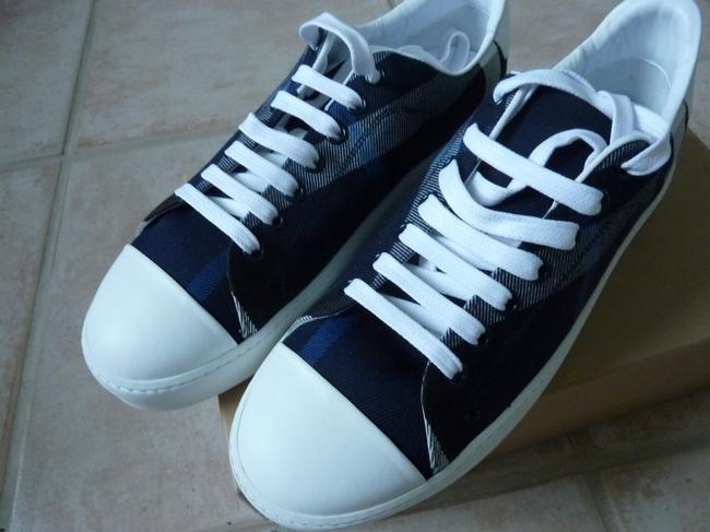 """Item - Blue """"Westford"""" Check Low-top In Canvas - New Sneakers Size US 9 Regular (M, B)"""