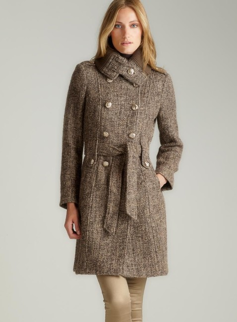 Item - Taupe Double Breasted Tweed Trench Coat Size 8 (M)