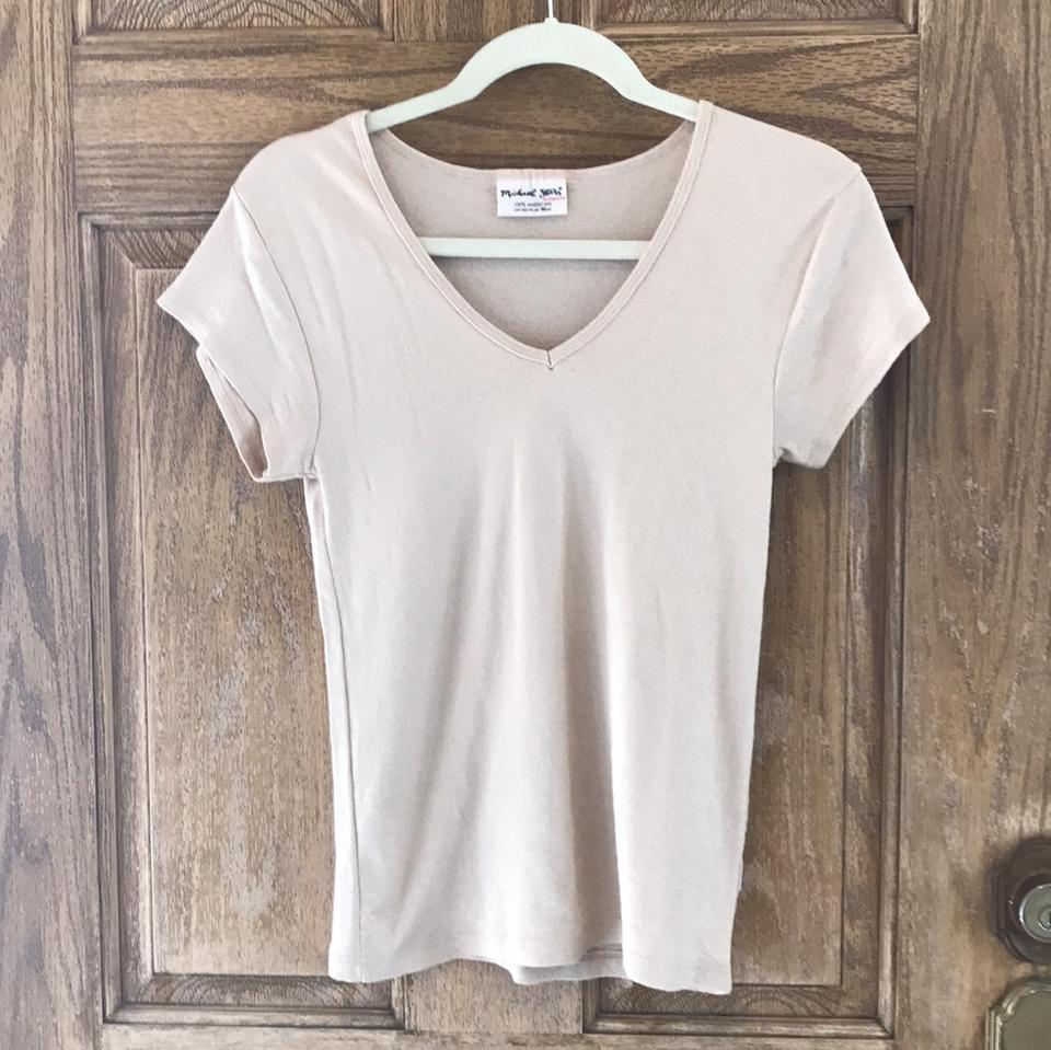 Michael Stars Taupe 0051 Basic Tee Shirt Size 6 S Tradesy