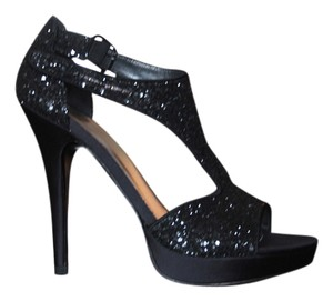 Stuart Weitzman Glitter Evening Black Formal