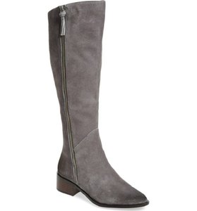 Linea Paolo Suede Leather Tall Grey Boots