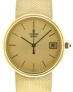 Concord Authentic Concord Vintage 14kt Yellow Gold Quartz Men's Watch