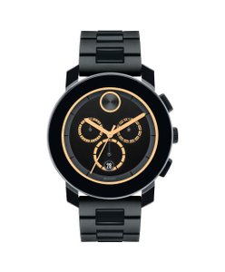 Movado NWT BOLD Black Dial Chronograph Men's Watch