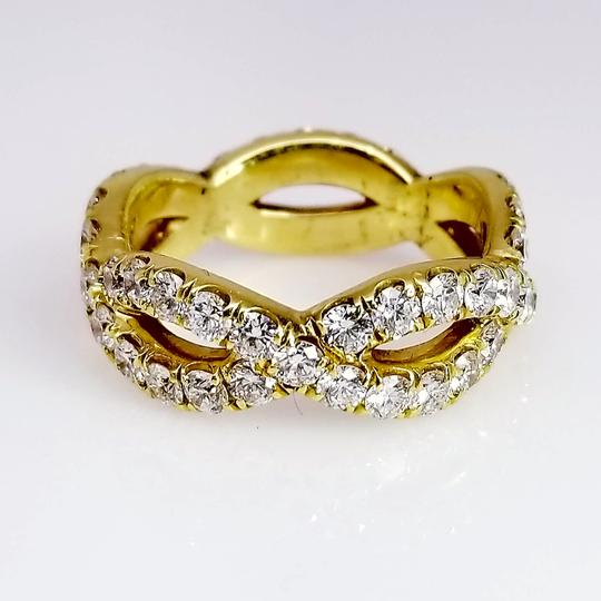 band in y eternity bezel bands yellow milgrain set diamond stackable gold
