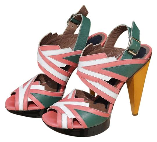 Marni Pink/White/Green/Yellow Sandals