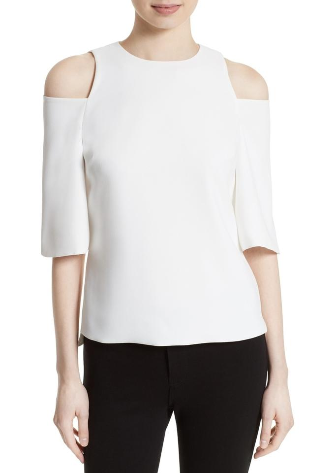 ef825ac95 Ted Baker White London Careo Cold Shoulder Blouse Size 4 (S) - Tradesy