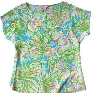 Lilly Pulitzer Top green/white/pink/blue/yellow