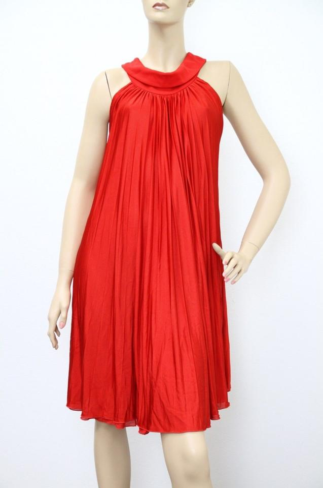 Gucci Red L New Runway Pleated Halter 297328 Long Formal Dress Size 12 77 Off Retail