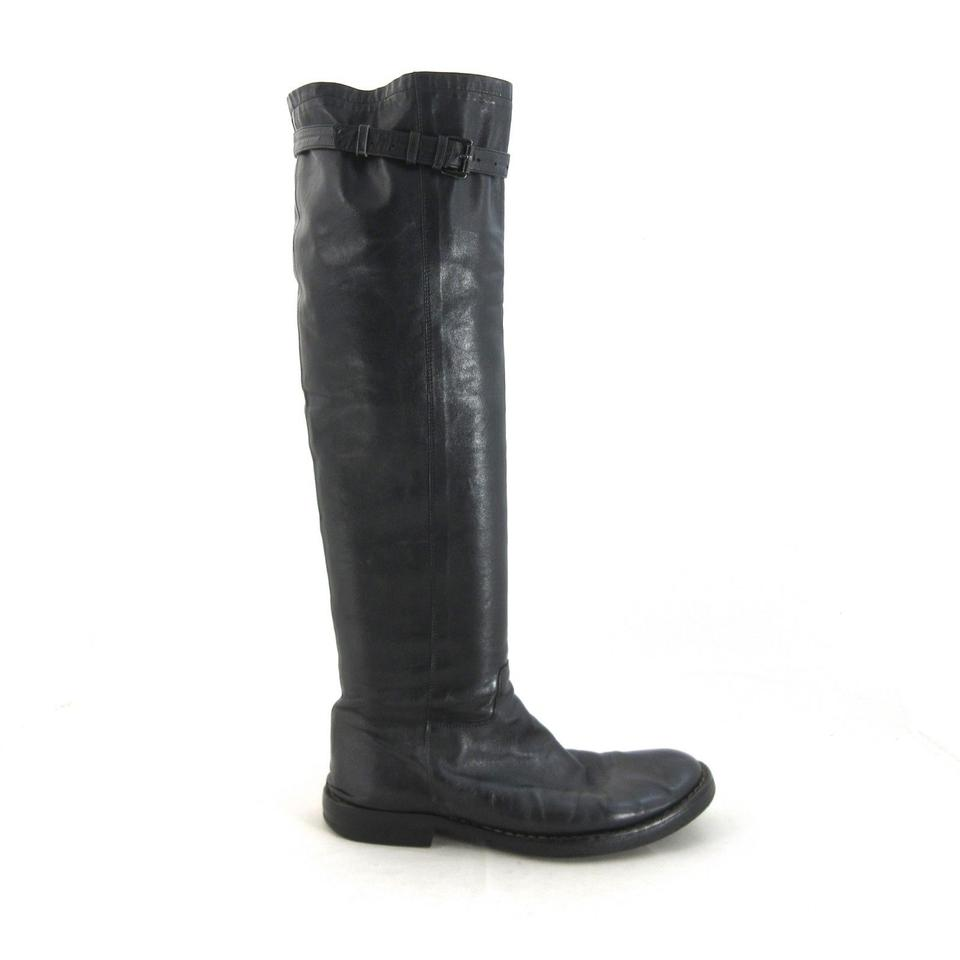 bd2969411c7 Ann Demeulemeester Black Knee-high Boots Booties Size US 11 Regular ...