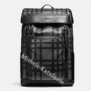 Coach Henry Plaid Backpack