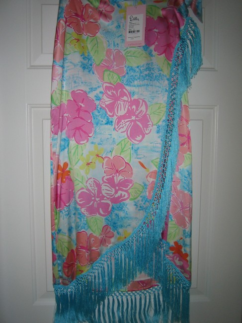 Lilly Pulitzer Hem Maxi Skirt TURQUOISE, PINKS, PEACH, PRANGE, LIME, WHITE