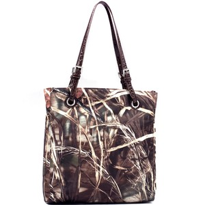 Realtree The Treasured Hippie Designer Handbags Affordable Camo Bags High Quality Bags Tote in Brown