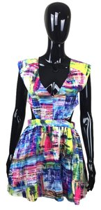 Multi Color Mini Open Dress