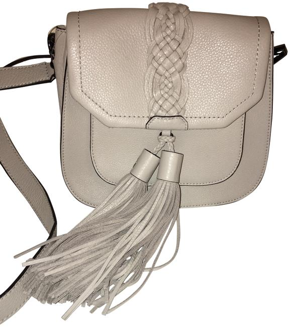 Item - Front Pocket Isobel Soft Grey Leather Shoulder Bag