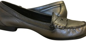 Cole Haan Size 7 Leather Loafer Pewter Flats