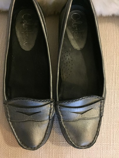 Cole Haan Size 7 Leather Loafer Pewter Flats Image 1