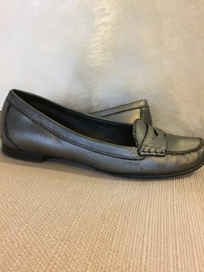 Cole Haan Size 7 Leather Loafer Pewter Flats Image 3