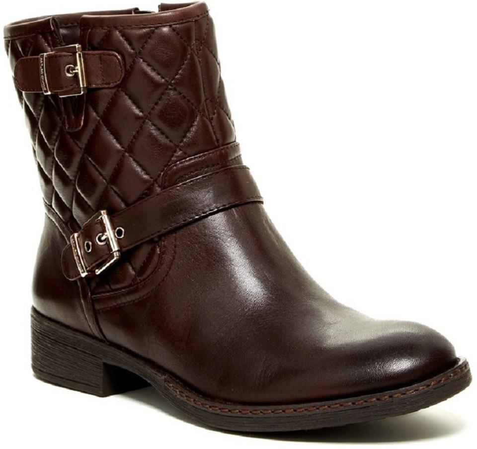 Arturo Chiang Brown Sarabeth Quilted Leather Motorcycle Ankle ... : quilted brown boots - Adamdwight.com