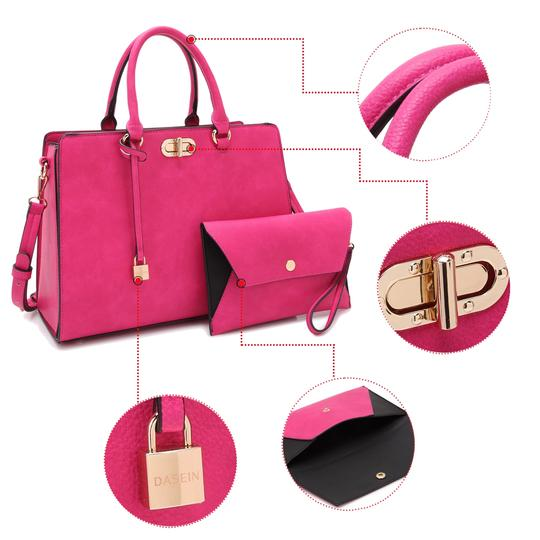 Anais Gvani Bags The Treasured Hippie Classic Designer Handbags Affordable High Quality Satchel in Pink Image 3