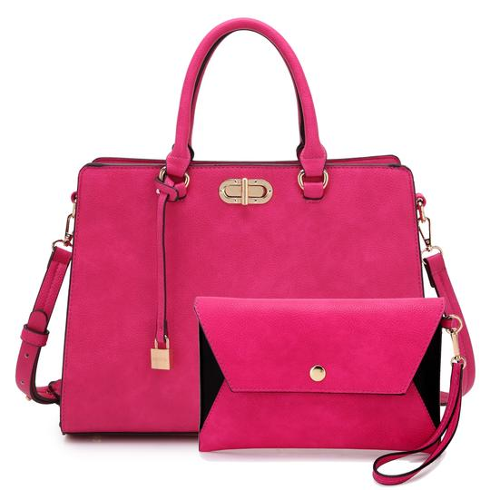 Anais Gvani Bags The Treasured Hippie Classic Designer Handbags Affordable High Quality Satchel in Pink Image 5
