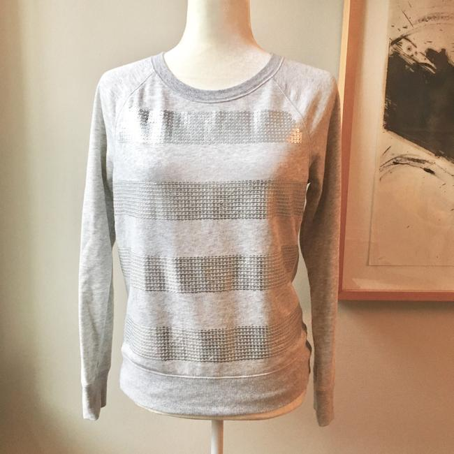Preload https://img-static.tradesy.com/item/22380741/mossimo-supply-co-gray-and-silver-sequin-crewneck-sp-sweaterpullover-size-4-s-0-0-650-650.jpg
