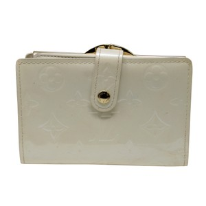 Louis Vuitton Signature Vernis Monogram Patent Leather Off White Kisslock Wallet