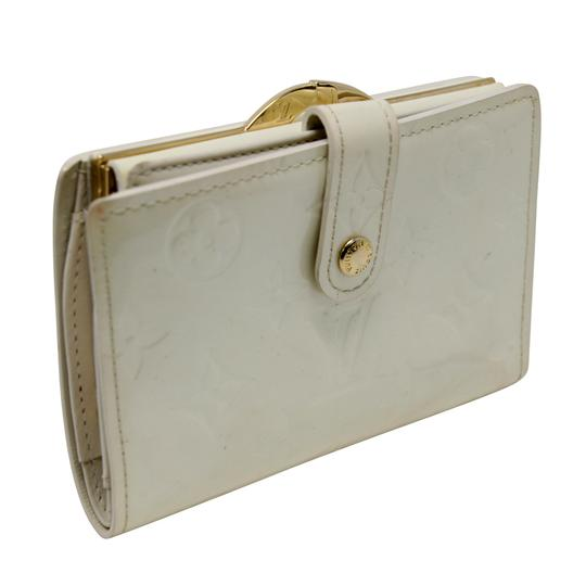 Louis Vuitton Signature Vernis Monogram Patent Leather Off White Kisslock Wallet Image 1
