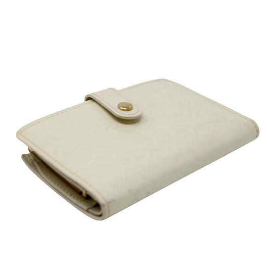 Louis Vuitton Signature Vernis Monogram Patent Leather Off White Kisslock Wallet Image 4