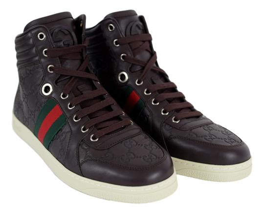 Gucci High Top Sneaker Brown Athletic
