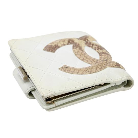 Chanel Limited Edition Cc Quilted Cambon Python Lambskin Leather Travel Image 3