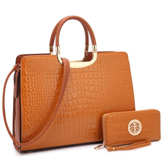 Preload https://img-static.tradesy.com/item/22380849/anais-gvani-bags-croco-print-briefcase-with-matching-wallet-brown-faux-leather-tote-0-0-540-540.jpg