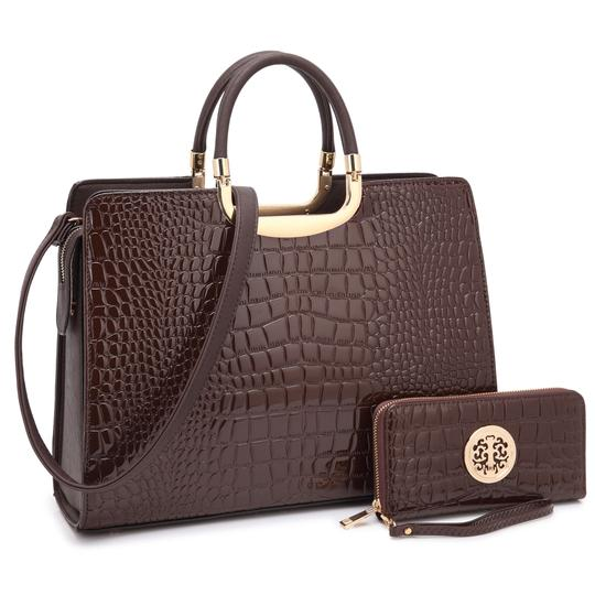 Preload https://img-static.tradesy.com/item/22380853/anais-gvani-bags-croco-print-briefcase-with-matching-wallet-coffee-faux-leather-tote-0-0-540-540.jpg