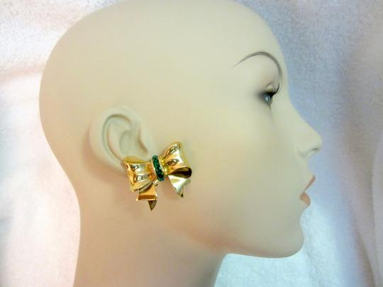 Preload https://img-static.tradesy.com/item/22380925/gold-and-green-bow-clip-plated-crystals-vintage-signed-superb-earrings-0-0-540-540.jpg