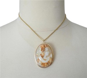 """AMEDEO M&M Scognamiglio 45mm Triple Carved """"Lady with Garlands"""" Cameo"""