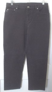 Lauren Jeans Company Co Denim Casual Work Style Size 8 M Ralph Boot Cut Jeans-Coated