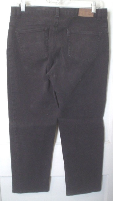 Lauren Jeans Company Co Denim Casual Work Style Size 8 M Ralph Boot Cut Jeans-Coated Image 1